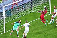 2nd July 2021; Allianz Arena, Munich, Germany; European Football Championships, Euro 2020 quarterfinals, Belgium versus Italy; <br />  Romelu Lukaku, Belgium misses a late chance for goal in the quarterfinal match
