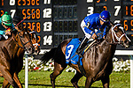 OLDSMAR, FL - MARCH 11: Dickinson #3, ridden by Paco Lopez, wins the Hillsborough Stakes on Tampa Bay Derby Day at the Tampa Bay Downs on  March 11, 2017 in Oldsmar, Florida. (Photo by Douglas DeFelice/Eclipse Sportswire/Getty Images)