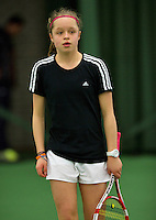 10-03-13, Rotterdam, Tennis, NOJK, Juniors, Lian Tran    Margriet Timmermans   Guus Koevermans   Joris Bodin