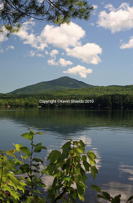 View of Mt. Blue across Webb Lake, Mt. Blue State Park, Maine, USA