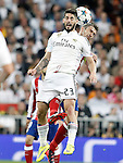 Real Madrid's Isco (f) and Atletico de Madrid's Gabi Fernandez during Champions League 2014/2015 Quarter-finals 2nd leg match.April 22,2015. (ALTERPHOTOS/Acero)