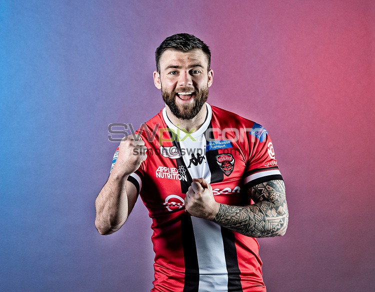 Picture by Allan McKenzie/SWpix.com - 17/02/2021 - Rugby League - Betfred Super League - Salford Media Day - AJ Bell Stadium, Salford, England - Andy Ackers.