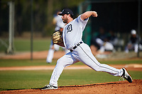 Detroit Tigers pitcher Chad Bell (53) during a Minor League Spring Training intrasquad game on March 24, 2018 at the TigerTown Complex in Lakeland, Florida.  (Mike Janes/Four Seam Images)