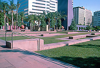 Los Angeles: Pershing Square--Landscaping of Northern half by Laurie Olin. A maze of walkways that absolutely end.
