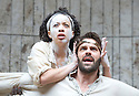 Macbeth by William Shakespeare. A Shakespeare's Globe Production directed by Eve Best. with Joseph Millson as Macbeth, Cat Simmons as Witch .Opens at the Shakespeare's Globe Theatre on 4/7/13  pic Geraint Lewis
