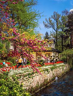 Schweiz, Tessin, Lugano: im Stadtpark (Parco Ciani) am Luganersee   Switzerland, Ticino, Lugano: Parco Ciani and Lago Lugano