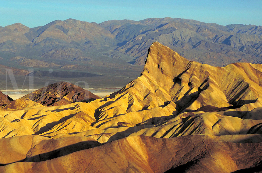 Zabriskie Point in California's Death Valley National Monument. Heat, Dry, Barren. California USA Death Valley.