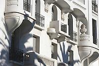 Afrique/Afrique du Nord/Maroc/Rabat: Detaildes facades Art-déco sur l'avenue Allal Ben Abdellah