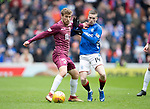 Rangers v St Johnstone…16.02.19…   Ibrox    SPFL<br />David Wotherspoon fends off Ryan Kent<br />Picture by Graeme Hart. <br />Copyright Perthshire Picture Agency<br />Tel: 01738 623350  Mobile: 07990 594431