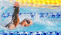 Trofeo Settecolli di nuoto al Foro Italico, Roma, 13 giugno 2013.<br /> Federica Pellegrini, of Italy, competes in tne women's 400 meters freestyle at the Sevenhills swimming trophy in Rome, 13 June 2013.<br /> UPDATE IMAGES PRESS/Isabella Bonotto
