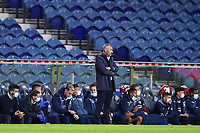 30th April 2021; Dragao Stadium, Porto, Portugal; Portuguese Championship 2020/2021, FC Porto versus Famalicao; Famalicao manager Ivo Vieira watches the game closely
