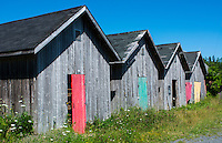Canada Prince Edward Island, P.E.I. Prim Point graphic beauty of stacked lobster fish houses