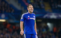 John Terry of Chelsea shouts orders during the UEFA Champions League Group G match between Chelsea and Dynamo Kyiv at Stamford Bridge, London, England on 4 November 2015. Photo by Andy Rowland.