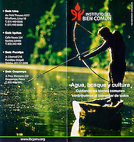 Leaflet, Instituto del Bien Comun, Lima, Peru