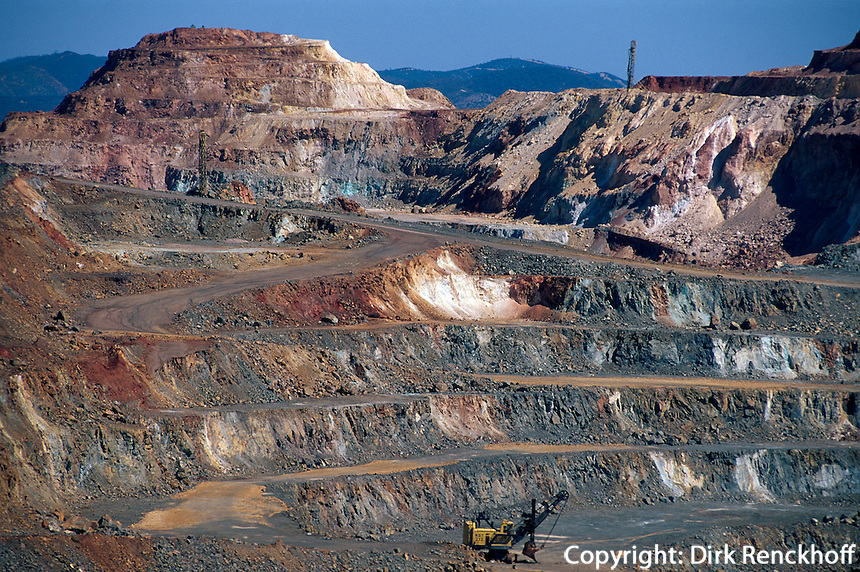 Spanien, Andalusien, Kupfermine in Rio Tinto