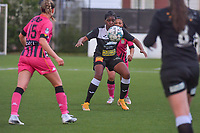 Henriette Awete (19) of Eendracht Aalst pictured during a female soccer game between Sporting Charleroi and Eendracht Aalst on the 8th matchday in play off 2 of the 2020 - 2021 season of Belgian Scooore Womens Super League , tuesday 18 th of May 2021 in Marcinelle , Belgium . PHOTO SPORTPIX.BE   SPP   STIJN AUDOOREN