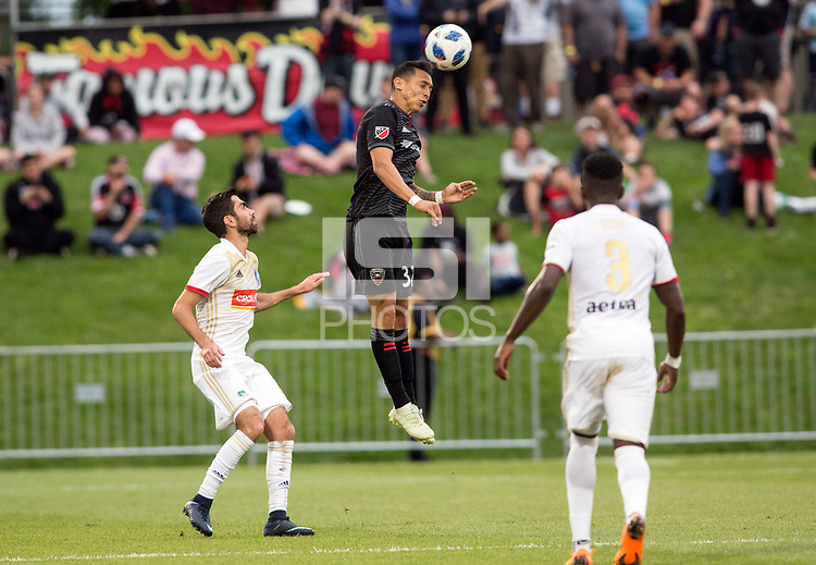 Boyds, MD. - Tuesday,June 05  2018: D.C. United defeated North Carolina F.C. 4-3 in overtime penalty kicks after a 1-1 tie in regulation during a fourth round U.S Open Cup match at the Maryland SoccerPlex.