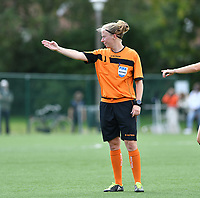 referee Lois Otte pictured during a female soccer game between Club Brugge Dames YLA and Racing Genk Ladies on the second matchday of the 2020 - 2021 season of Belgian Scooore Women s SuperLeague , saturday 5 th of September 2020  in Brugge , Belgium . PHOTO SPORTPIX.BE   SPP   DAVID CATRY