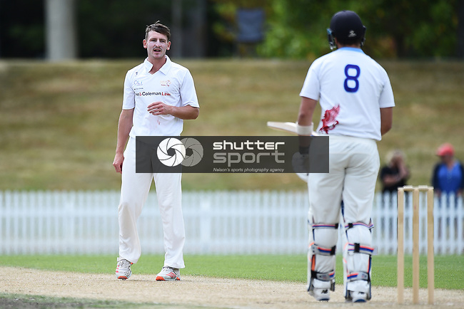 NELSON, NEW ZEALAND - Hawke Cup Cricket - Nelson Griffins v Otago. Saxton Oval, Richmond. Sunday 14 February 2021.  Nelson, New Zealand. (Photo by Chris Symes/Shuttersport Limited)