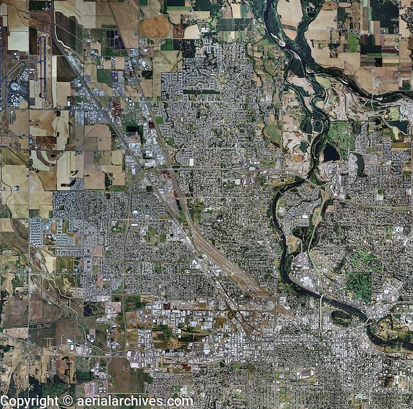 aerial map of Eugene, Oregon