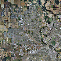 aerial map of Eugene, Oregon