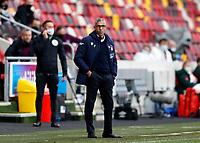 §20th March 2021; Brentford Community Stadium, London, England; English Football League Championship Football, Brentford FC versus Nottingham Forest; Nottingham Forest manager Chris Hughton looks on from the touchline