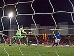 Josh Windass scores the opening goal past Tomas Cerny