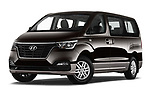 Stock pictures of low aggressive front three quarter view of a 2019 Hyundai H1-People Executive 5 Door Mini Van