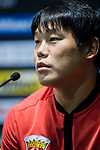 Cai Huikang talks during Pre-Match Press Conference and Training Session prior to the AFC Champions League 2017 Quarter-Finals match between Shanghai SIPG (CHN) and Guangzhou Evergrande (CHN) at the Shanghai Stadium on 20 August 2017 in Shanghai, China. Photo by Yu Chun Christopher Wong / Power Sport Images