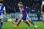 FC Barcelona's Leo Messi, Real Sociedad's David Zurutuza during the match of La Liga, between Real Sociedad and Futbol Club Barcelona at Anoeta Stadium, San Sebastian , Spain. November 27, 2016. (ALTERPHOTOS/Rodrigo Jimenez)