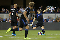 SAN JOSE, CA - AUGUST 24: Florian Jungwirth #23 of the San Jose Earthquakes during a Major League Soccer (MLS) match between the San Jose Earthquakes and the Vancouver Whitecaps FC  on August 24, 2019 at Avaya Stadium in San Jose, California.