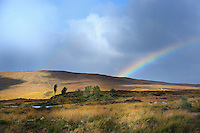 SC -PERTHSHIRE<br /> Storm, rain and coloured rainbows in a 5 minute change  at Laggan<br /> <br /> Full size: 69,2 MB