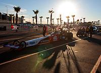 Oct 31, 2020; Las Vegas, Nevada, USA; NHRA top fuel driver Doug Kalitta during qualifying for the NHRA Finals at The Strip at Las Vegas Motor Speedway. Mandatory Credit: Mark J. Rebilas-USA TODAY Sports