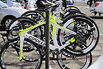 The Farnese Vini-Selle Italia team Cipollini bikes lined up before the start of 2nd Stage of the 2012 Tour of Qatar a team tme trial at Lusail Circuit, Doha, Qatar, 6th February 2012 (Photo Eoin Clarke/Newsfile)