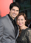 Courtney Ford and Brandon Routh<br /> <br /> <br />  at HBO True Blood Season 6 Premiere held at The Cinerama Dome in Hollywood, California on June 11,2013                                                                   Copyright 2013 Hollywood Press Agency