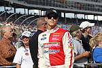 Sprint Cup Series driver Trevor Bayne (21) in action before the NASCAR Sprint Cup Series AAA 500 race at Texas Motor Speedway in Fort Worth,Texas.