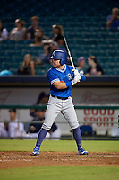 Oklahoma City Dodgers Jake Peter (3) at bat during a Pacific Coast League game against the New Orleans Baby Cakes on May 6, 2019 at Shrine on Airline in New Orleans, Louisiana.  New Orleans defeated Oklahoma City 4-0.  (Mike Janes/Four Seam Images)