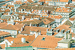 Portugal, Lisbon, Baixa Rooftops from Sao Jorge Castle