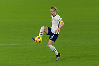 ORLANDO CITY, FL - FEBRUARY 18: Becky Sauerbrunn #4 controls the ball during a game between Canada and USWNT at Exploria stadium on February 18, 2021 in Orlando City, Florida.