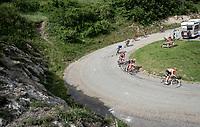 descending towards the finish from the final climb of the day (Col de Baune) <br /> <br /> Stage 6: Saint-Vulbas to Saint-Michel-de-Maurienne (228km)<br /> 71st Critérium du Dauphiné 2019 (2.UWT)<br /> <br /> ©kramon