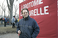 Montreal (Qc) CANADA -2005 File Photo : Paul Pïche in a student demonstration