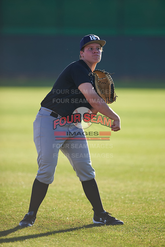 Ryan Mize (54), from Lakewood, California, while playing for the Brewers during the Under Armour Baseball Factory Recruiting Classic at Gene Autry Park on December 27, 2017 in Mesa, Arizona. (Zachary Lucy/Four Seam Images)