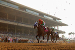 """DEL MAR, CA  AUGUST 25:  #8 Battle of Midway, ridden by Flavien Prat, returned to racing with a strong place finish in the Pat O'Brien Stakes (Grade ll), Breeders' Cup """"Win and You're In Dirt Mile Division"""" on August 25, 2018 at Del Mar Thoroughbred Club in Del Mar, CA.(Photo by Casey Phillips/Eclipse Sportswire/Getty ImagesGetty Images"""
