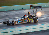 Oct 5, 2018; Ennis, TX, USA; NHRA top fuel driver Cory McClenathan during qualifying for the Fall Nationals at the Texas Motorplex. Mandatory Credit: Mark J. Rebilas-USA TODAY Sports