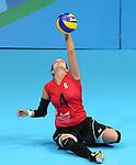 Shacarra Orr, Rio 2016 - Sitting Volleyball // Volleyball assis.<br /> Canada competes against Rwanda in the Women's Sitting Volleyball Preliminary // Le Canada affronte le Rwanda dans le tournoi préliminaire de volleyball assis féminin. 15/09/2016.