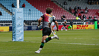 20th March 2021; Twickenham Stoop, London, England; English Premiership Rugby, Harlequins versus Gloucester; Harlequins, Gloucester; Danny Care of Harlequins running in to score his try