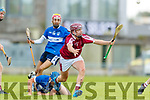 Joseph Diggins Causeway in action against Thomas Moloney St Brendans during the Senior Kerry County Hurling Semi Finals between Causeway v Brendans at Austin Stack park on Saturday last.