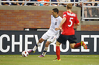 7 June 2011: USA Men's National Team forward Clint Dempsey (8) and Canada defender Andre Hainault (5) during the CONCACAF soccer match between USA and Canada at Ford Field Detroit, Michigan. USA won 2-0.