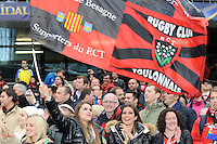 Toulon fans celebrate  after winning the Heineken Cup Final between ASM Clermont Auvergne and RC Toulon at the Aviva Stadium, Dublin on Saturday 18th May 2013 (Photo by Rob Munro)