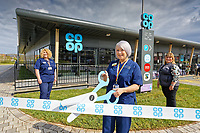 L-R Withybush Hospital nurses Sally Leyshon-Owen and Ann Armstrong with store manager Louise Hughes.